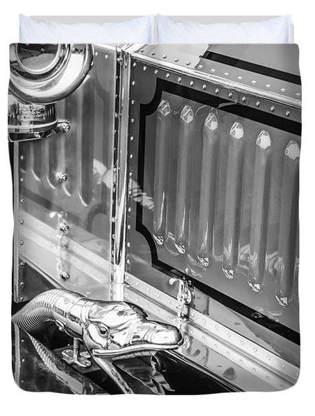 1912 Rolls-royce Silver Ghost Rothchild Et Fils Style Limousine Snake Horn -0711bw Duvet Cover by Jill Reger