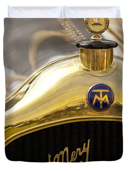 1913 Turcat-Mery MJ Boulogne Torpedo Hood Ornament and Emblem Duvet Cover by Jill Reger