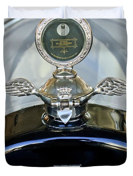 1915 Chevrolet Touring Hood Ornament Duvet Cover by Jill Reger