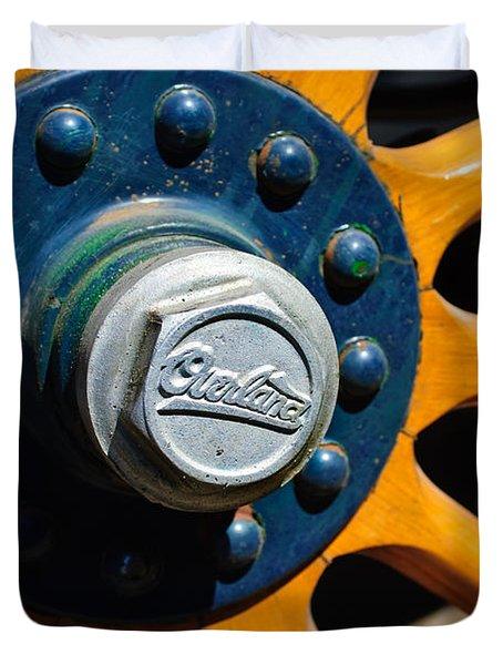 1916 Willys Overland Model 86 Wheel Emblem Duvet Cover by Jill Reger