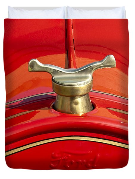 1919 Ford Volunteer Fire Truck Duvet Cover by Jill Reger