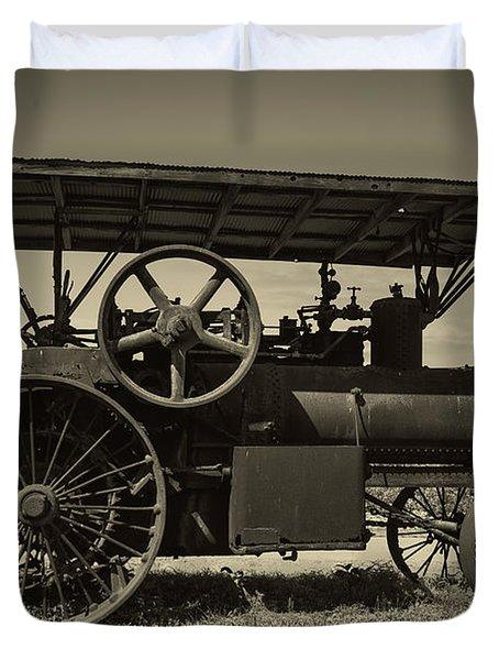 1921 Aultman Taylor Tractor Duvet Cover by Debra and Dave Vanderlaan