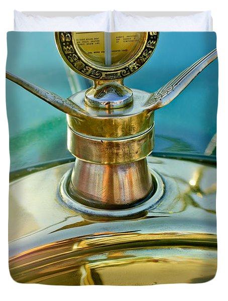 1923 Ford Model T Hood Ornament Duvet Cover by Jill Reger