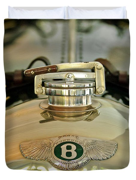 1925 Bentley 3-Liter 100mph Supersports Brooklands Two-Seater Radiator Cap Duvet Cover by Jill Reger