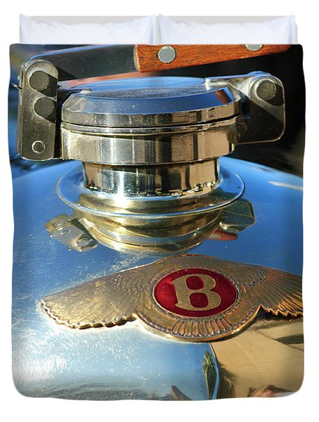1927 Bentley Hood Ornament Duvet Cover by Jill Reger