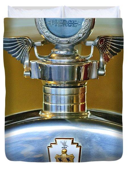 1928 Pierce-arrow Hood Ornament Duvet Cover by Jill Reger