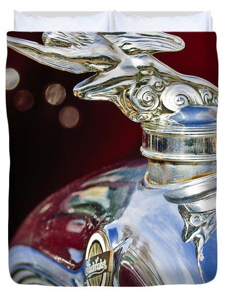 1928 Studebaker Hood Ornament 2 Duvet Cover by Jill Reger