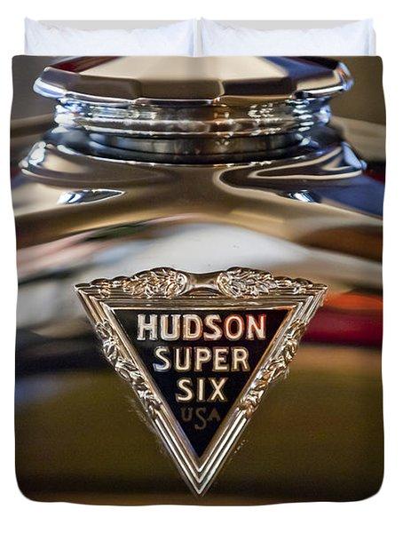 1929 Hudson Cabriolet Hood Ornament Duvet Cover by Jill Reger