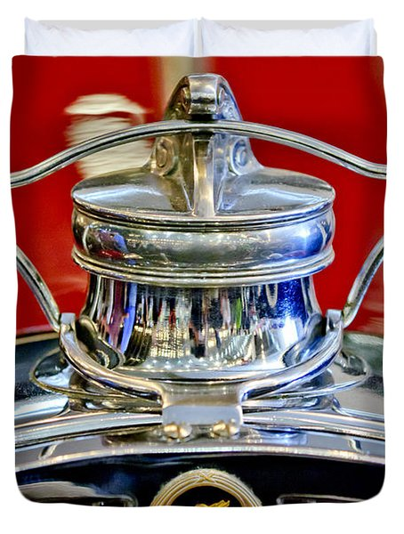 1929 Packard 8 Hood Ornament 2 Duvet Cover by Jill Reger