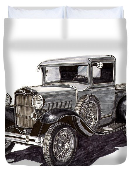 1930 Ford Model A Pick Up Duvet Cover by Jack Pumphrey