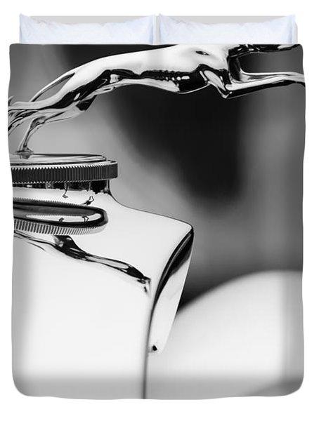 1931 Lincoln K Hood Ornament -1837bw Duvet Cover by Jill Reger