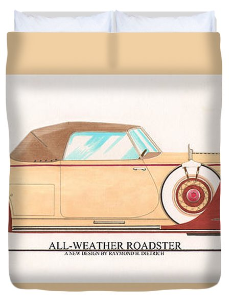 1932 Packard All Weather Roadster By Dietrich Concept Duvet Cover by Jack Pumphrey