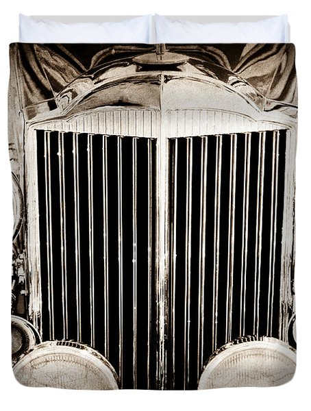 1933 Packard 12 Convertible Coupe Classic Car Duvet Cover by Jill Reger