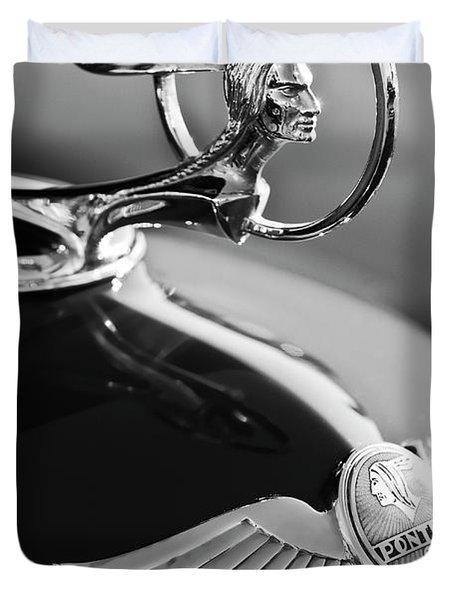 1933 Pontiac Hood Ornament 4 Duvet Cover by Jill Reger
