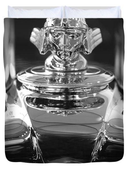 1933 Stutz Dv-32 Hood Ornament 4 Duvet Cover by Jill Reger
