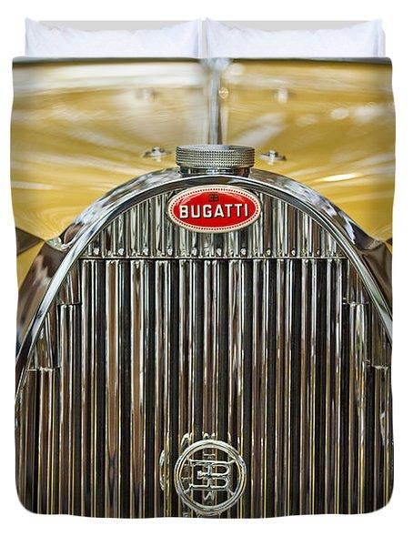 1935 Bugatti Type 57 Roadster Grille Duvet Cover by Jill Reger
