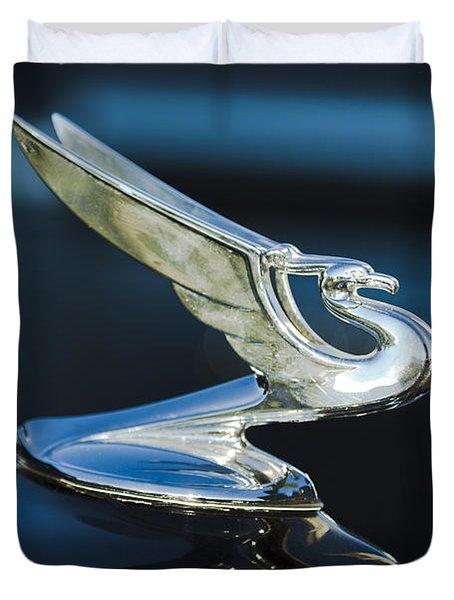 1935 Chevrolet Sedan Hood Ornament Duvet Cover by Jill Reger