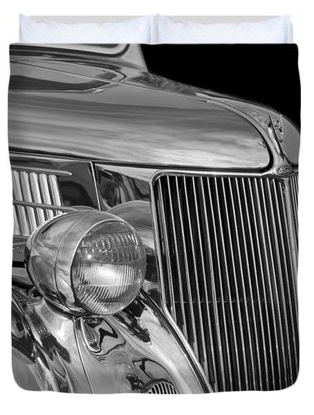 1936 Ford - Stainless Steel Body Duvet Cover by Jill Reger
