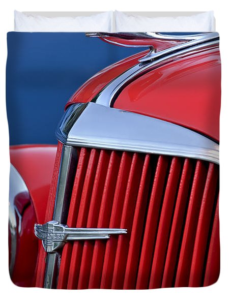 1937 Chevrolet Hood Ornament Duvet Cover by Jill Reger