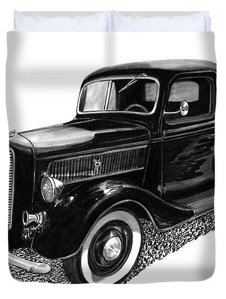 1937 Ford Pick Up Truck Duvet Cover by Jack Pumphrey