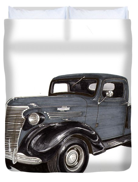 1938 Chevy Pickup Duvet Cover by Jack Pumphrey