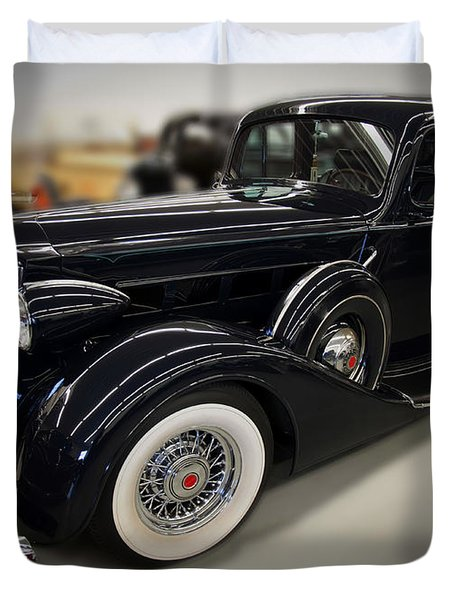 1940 Packard Super 8 Duvet Cover by Chris Flees