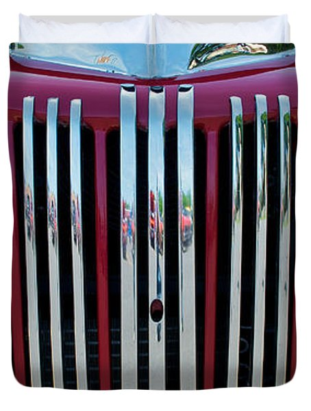 1947 Ford Truck Grill Duvet Cover by Mark Dodd