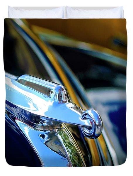 1947 Packard Hood Ornament 4 Duvet Cover by Jill Reger