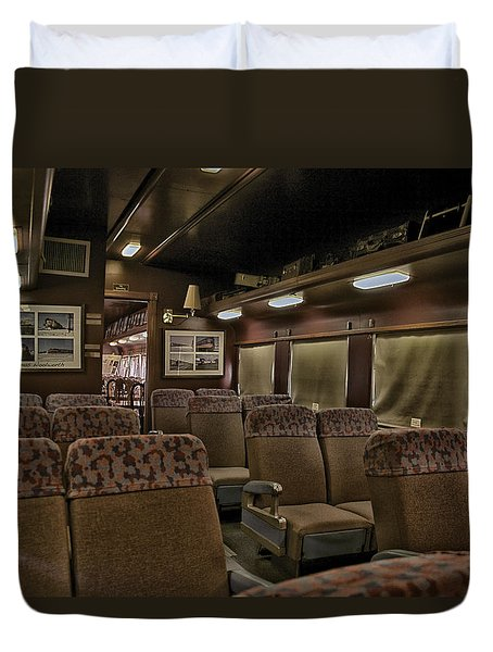 1947 Pullman Railroad Car Interior Seating Duvet Cover by Thomas Woolworth