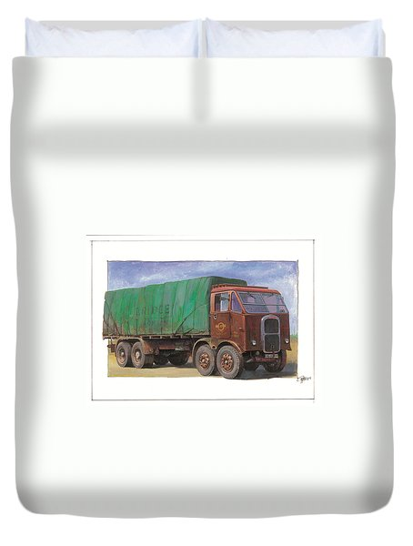 1947 Scammell R8 Duvet Cover by Mike  Jeffries