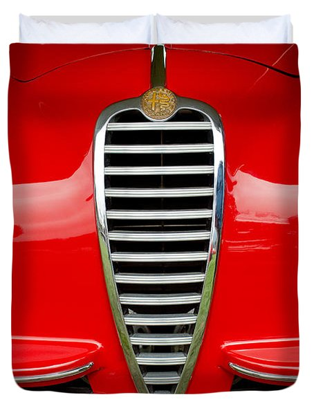 1949 Alfa Romeo 6c 2500 Ss Pininfarina Cabriolet Grille Duvet Cover by Jill Reger