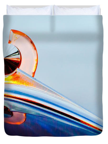 1949 Ford Hood Ornament 2 Duvet Cover by Jill Reger