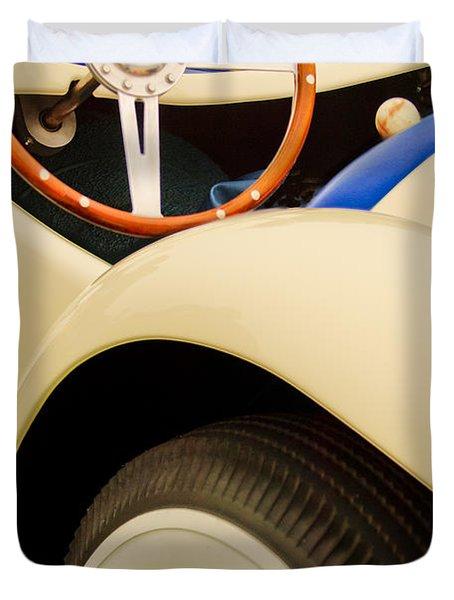 1950 Eddie Rochester Anderson Emil Diedt Roadster Steering Wheel Duvet Cover by Jill Reger