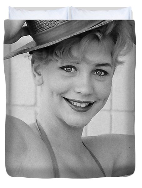 1950s Pinup Duvet Cover by Chuck Staley