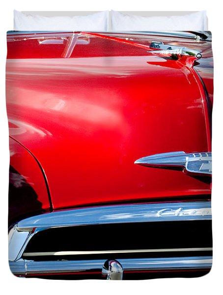 1951 Chevrolet Grille Emblem Duvet Cover by Jill Reger