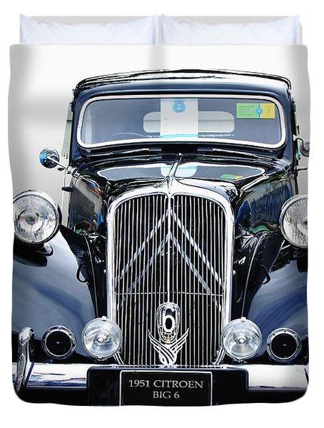 1951 Citroen Big 6 Duvet Cover by Kaye Menner