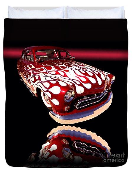 1951 Mercury Sedan Duvet Cover by Jim Carrell