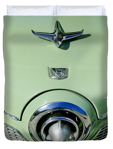 1951 Studebaker Commander Hood Ornament 2 Duvet Cover by Jill Reger
