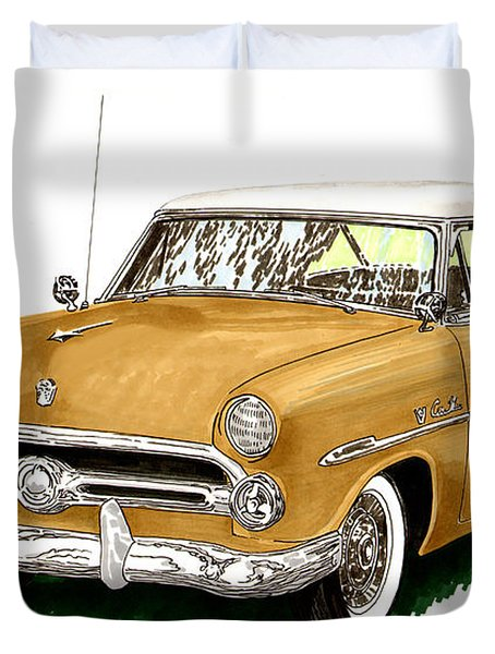 1952 Ford Victoria Duvet Cover by Jack Pumphrey