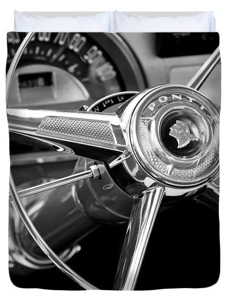 1953 Pontiac Steering Wheel 2 Duvet Cover by Jill Reger