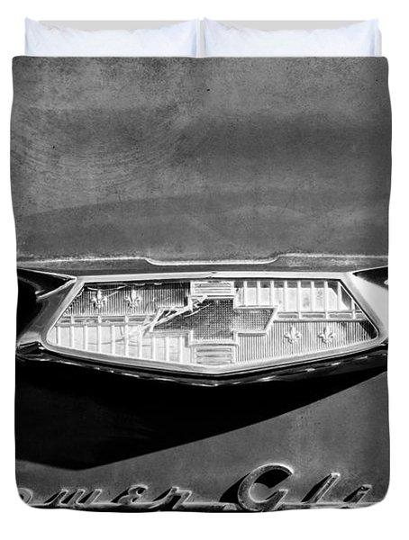 1954 Chevrolet Power Glide Emblem Duvet Cover by Jill Reger
