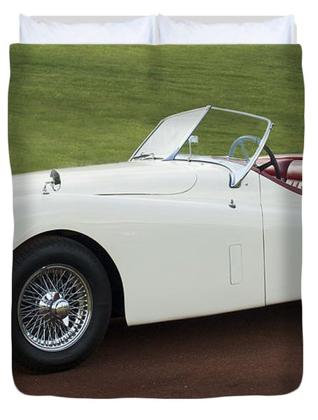 1954 Jaguar Xk120 Roadster  Duvet Cover by Jill Reger