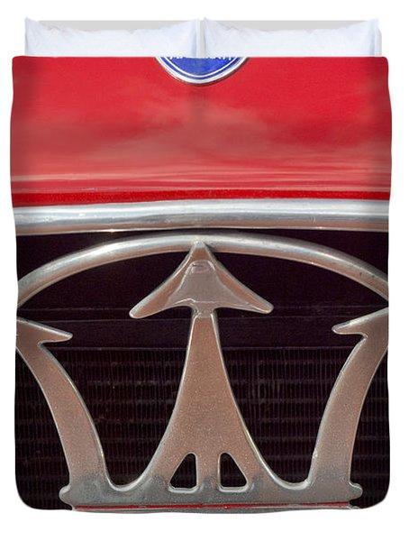 1954 Maserati A6 Gcs Emblem Duvet Cover by Jill Reger