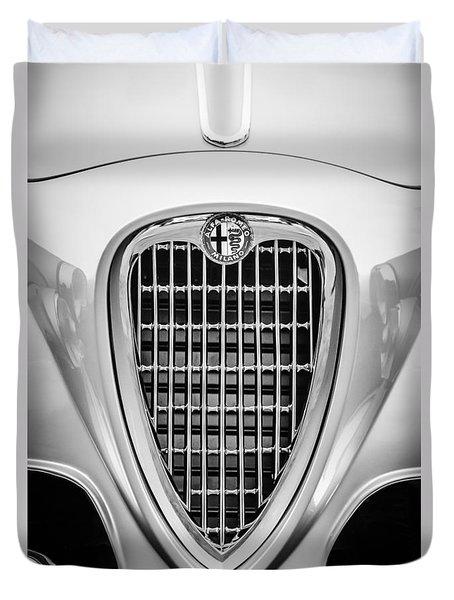 1955 Alfa Romeo 1900 Css Ghia Aigle Cabriolet Grille Emblem -0564bw Duvet Cover by Jill Reger