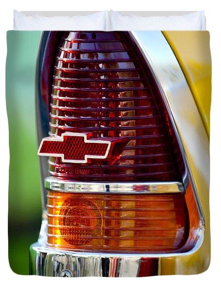 1955 Chevrolet Taillight Emblem Duvet Cover by Jill Reger