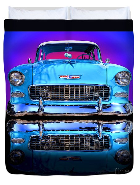 1955 Chevy Bel Air Duvet Cover by Jim Carrell