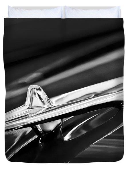 1955 Desoto Hood Ornament 4 Duvet Cover by Jill Reger