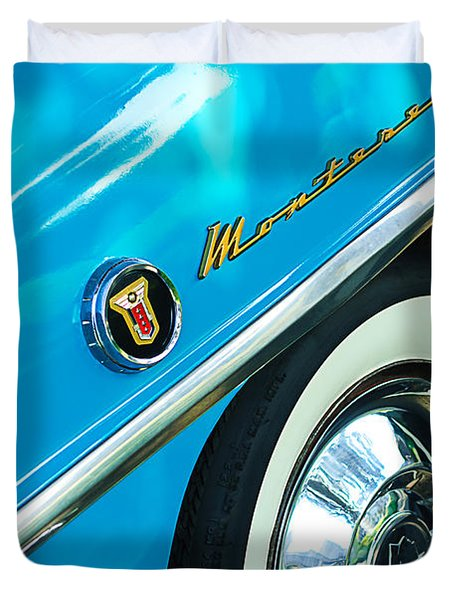 1955 Mercury Monterey Wheel Emblem Duvet Cover by Jill Reger