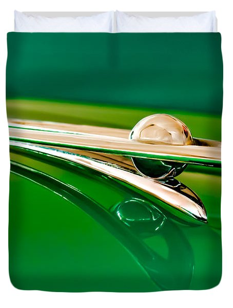 1955 Packard Clipper Hood Ornament 3 Duvet Cover by Jill Reger