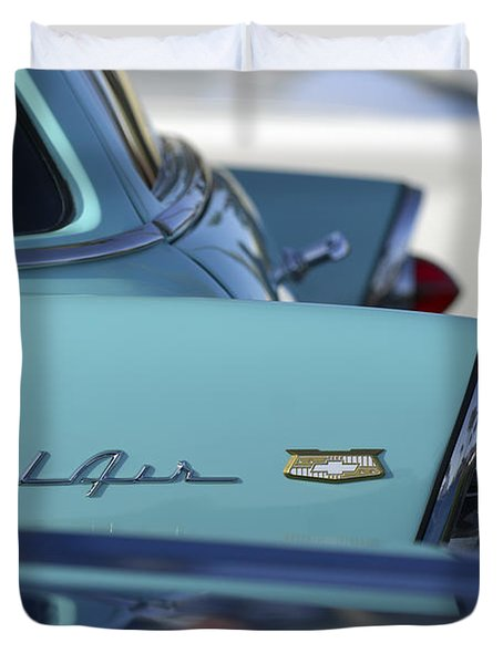 1956 Chevrolet Belair Nomad Rear End Duvet Cover by Jill Reger